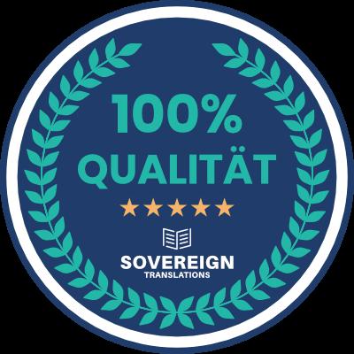 Sovereign Translations Qualitätssiegel für eine souveräne Online-Übersetzung
