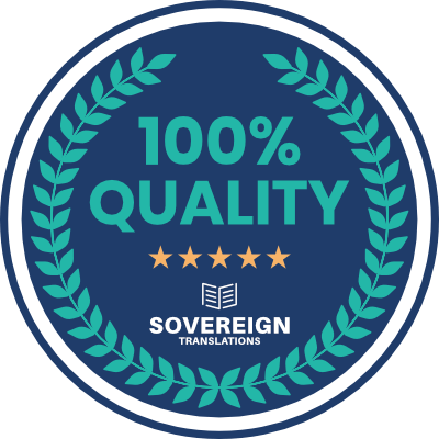 Sovereign Translations seal of quality for a superior online translation